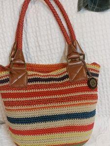 The Sak Multicolored Crocheted Shoulder Bag